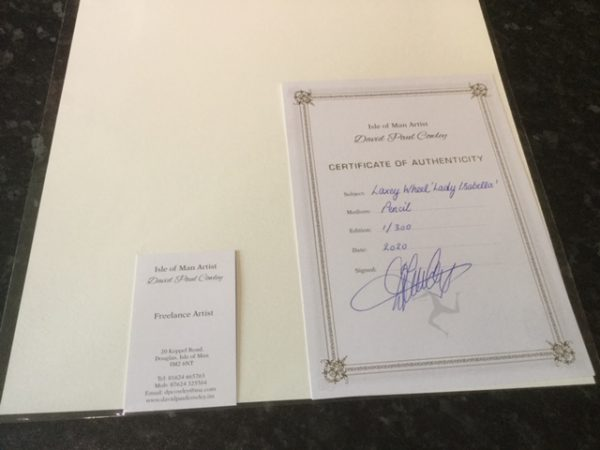 certificate of authenticity for the laxey wheel limited edition print